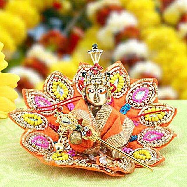 Source of Faith-Small Bal Gopal 2 inches,Bal Gopal 2 inches Dress,Brass Bal Gopal 2 inches Accessories