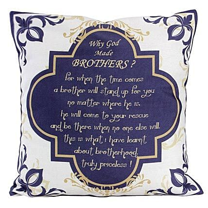 Why God Made Brothers Cushion-12X12 inches Cushion with a lovely message printed on it