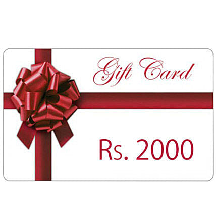Gift Card Rs.2000