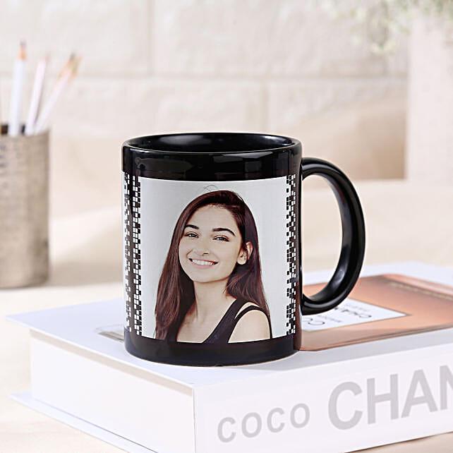 Personalized Photo Mug-black ceramic coffee mug