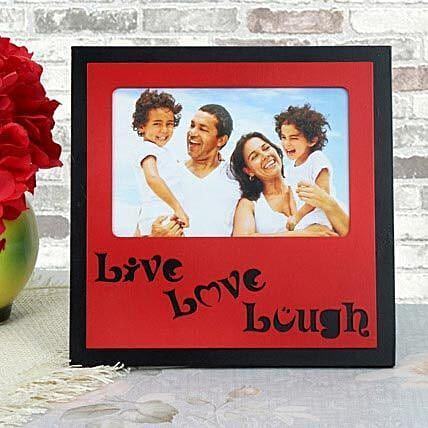 Personalized live love laugh photo frame for Mothers Day