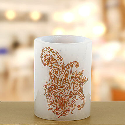 Your gift contains a hollow heena candle