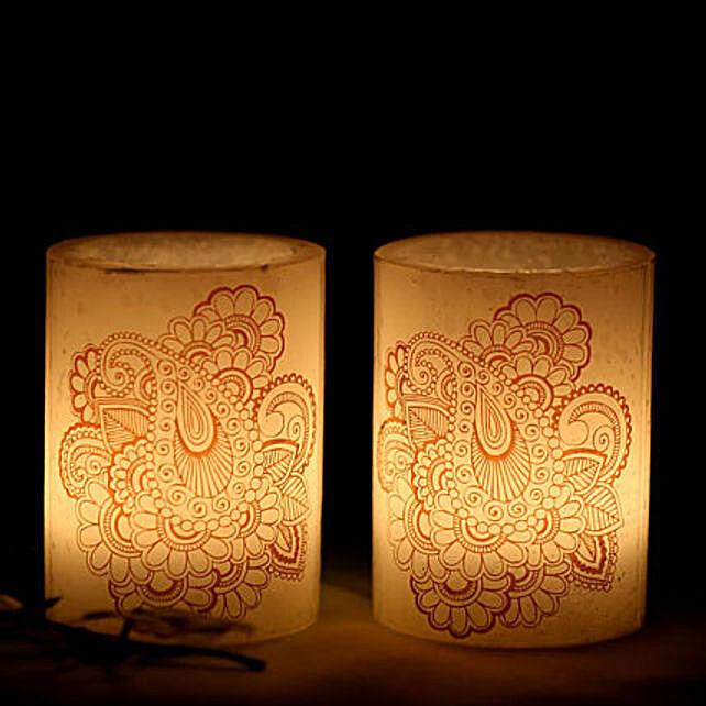 2 Hollow Heena Candles