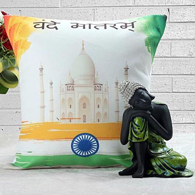Cushion with buddha:Send Handicraft Gifts to Mumbai