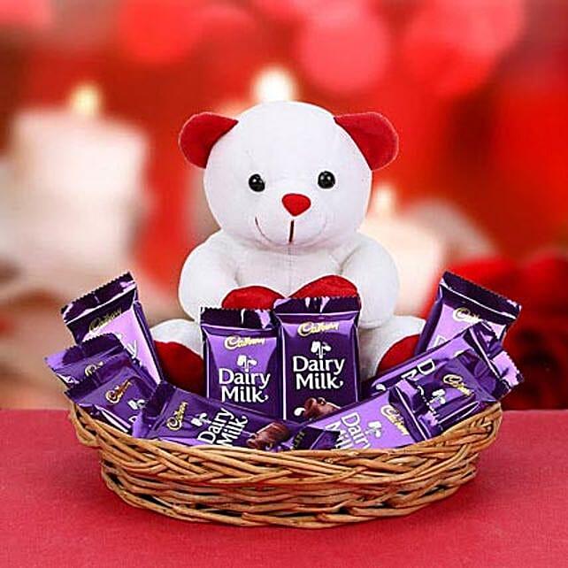 Chocolates with small teddy combo:Christmas Gifts Kolkata