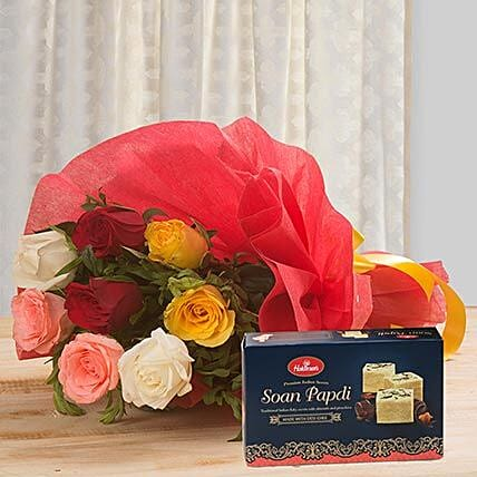 Colorful Surprise:Send Flowers & Sweets Christmas