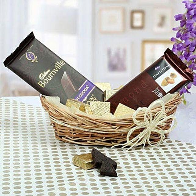 Chocolate Basket Gifts:Dark Chocolates