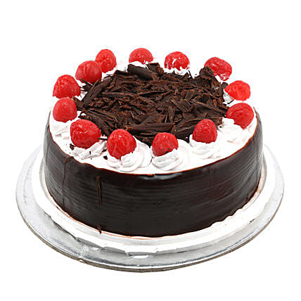 Black Forest with Cherry 1kg:Friendship Day Gifts Kanpur