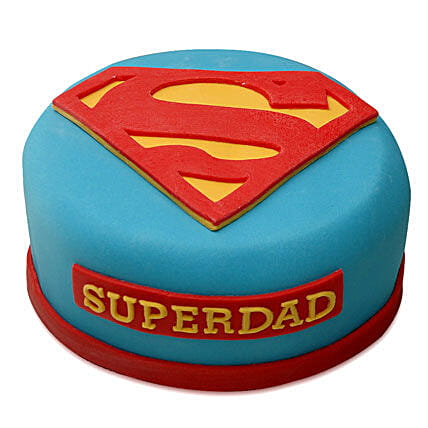 SuperDad Father's Day Special Fondant Cake