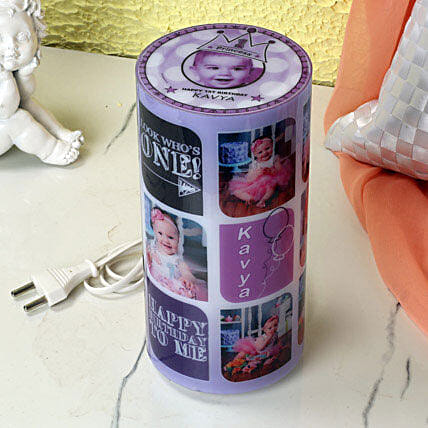 Personalized cylindrical lamp