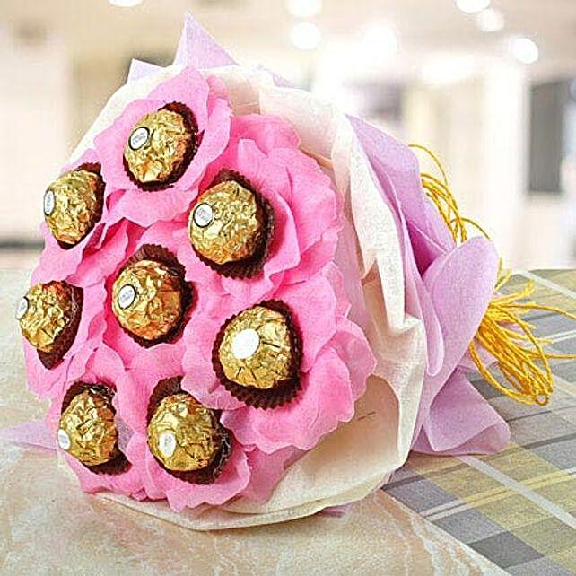 Pleasantly Pink-7 Ferrero Rocher chocolates