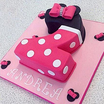 Minnie themed Number Cake 2kg