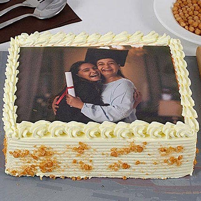 Butterscotch Personalised Photo Cake:Photo Cakes to Gurgaon
