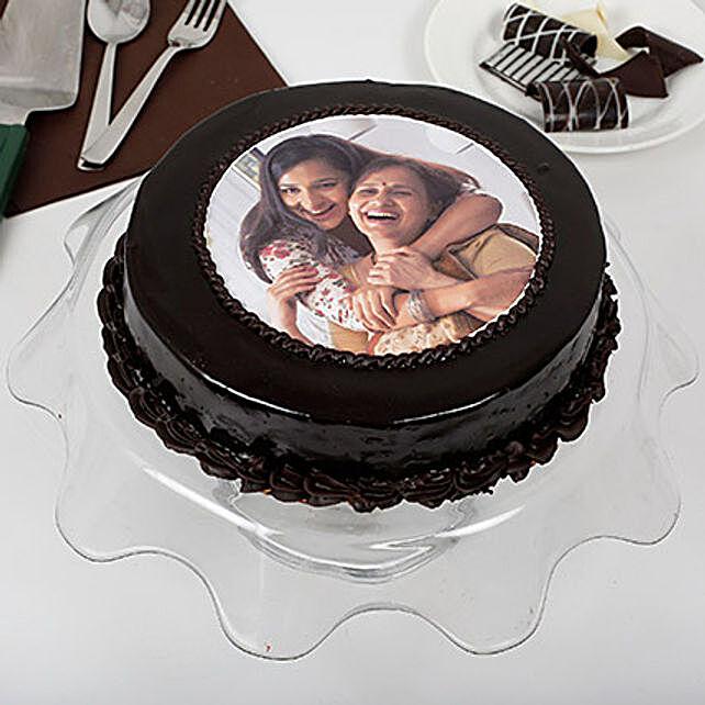 Personalised Round Shape Chocolate Cake