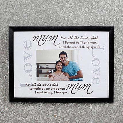 Customize Photo frame for Mom:Personalised Gifts for Mother