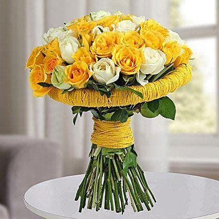 Yellow Rose Flowers Bunch