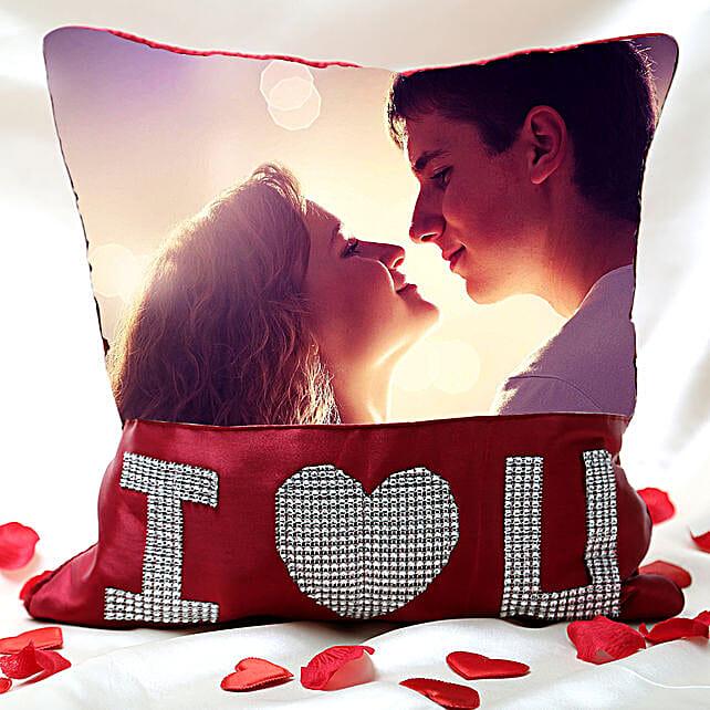 I Love You Personalized Cushion Valentine