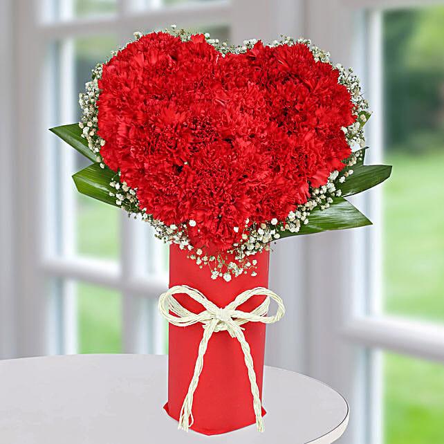 Heart Shape Rose Arrangement