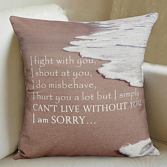 Sorry Printed Cushion