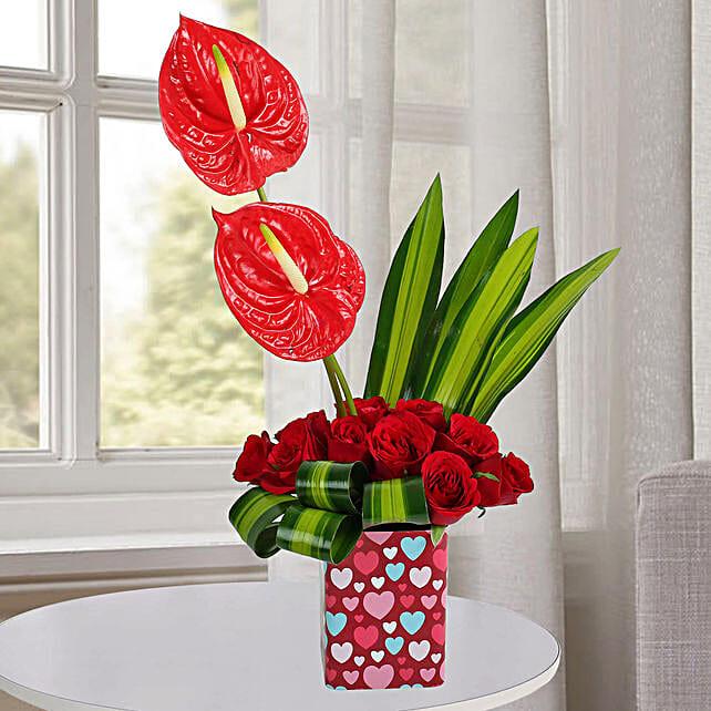 10 Red Roses Arrangement