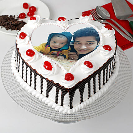 Black Forest Cream Photo Cake for Dad 1kg