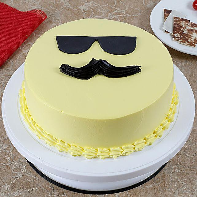 Cool Dad Emoji Cream Cake Pineapple Cake 3kg