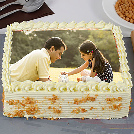 Fathers Day Special Creamy Butterscotch Photo Cake 2kg Eggless