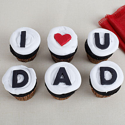 I Love You Dad Cupcakes 6 Eggless