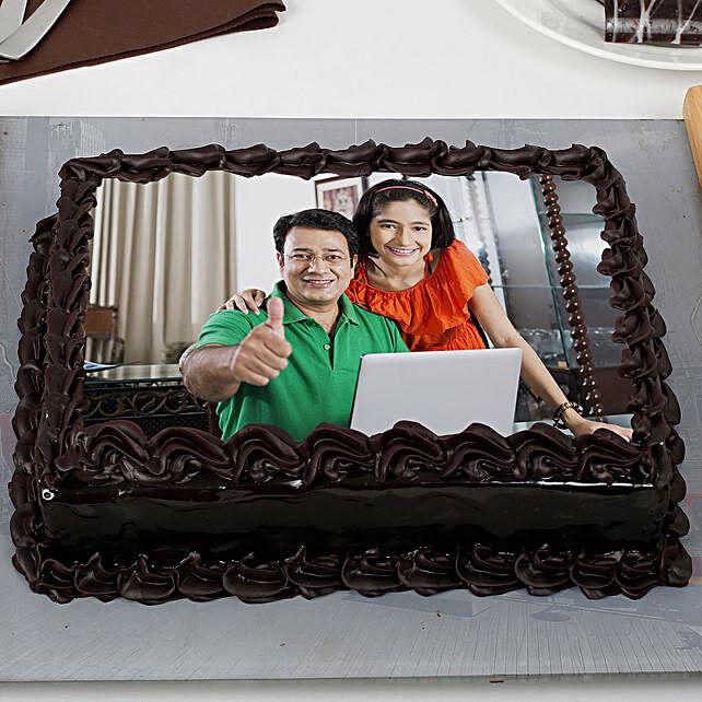 Rich Chocolate Truffle Photo Cake 1kg