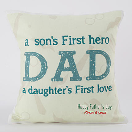 Personalized Comfy Cushion For Dad