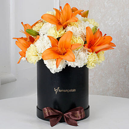 Beautiful Lilies N Carnations arrangement