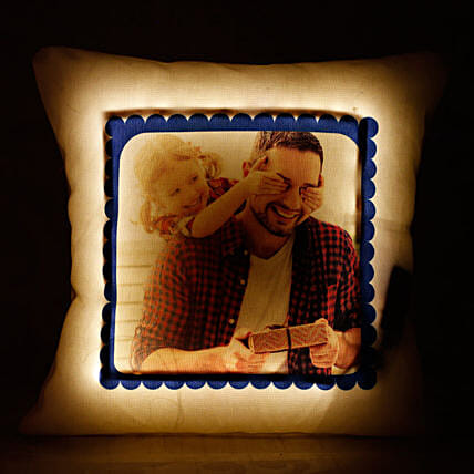 printed led cushion for father:Personalised Led-cushions