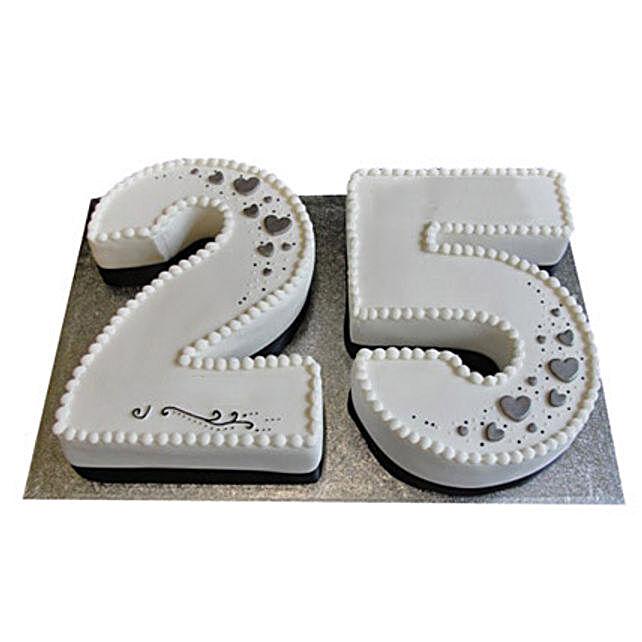 25th Birthday Number Cake 4kg:Alphabet Birthday Cake