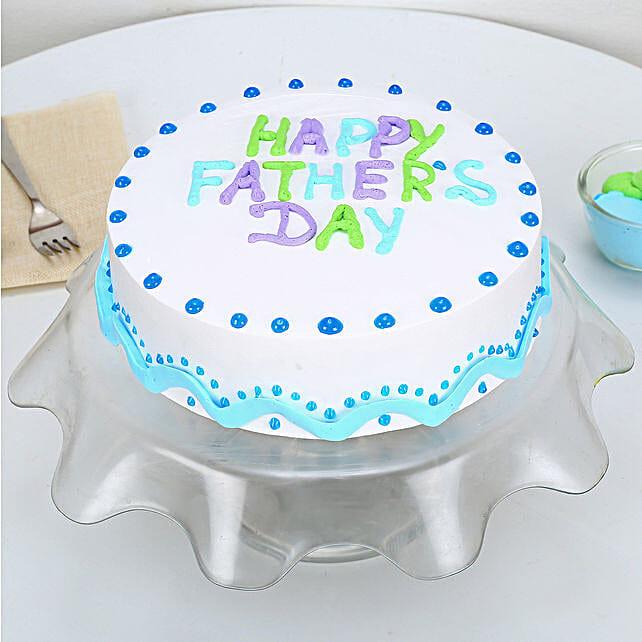 Enjoyable Happy Fathers Day Vanilla Cake 1kg