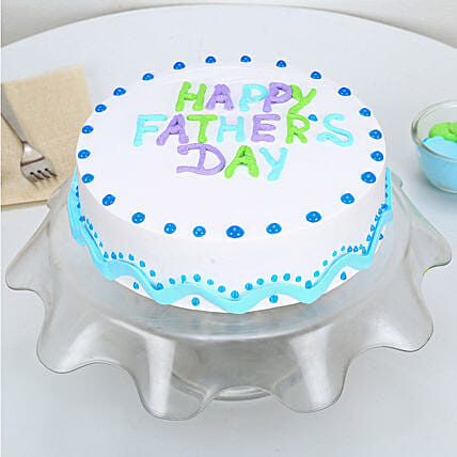 Enjoyable Happy Fathers Day Vanilla Cake 3kg Eggless