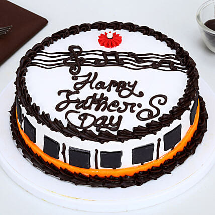 Fathers Day Gorgeous Piano Chocolate Cake 1kg Eggless