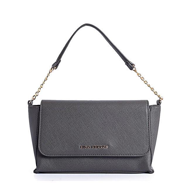 Lino Perros Chic Grey Handbag