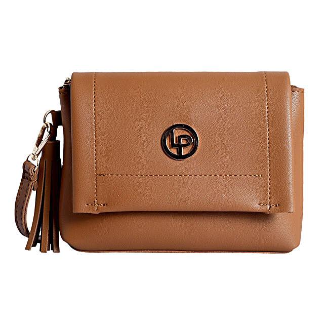 Lino Perros Classic Brown Sling Bag