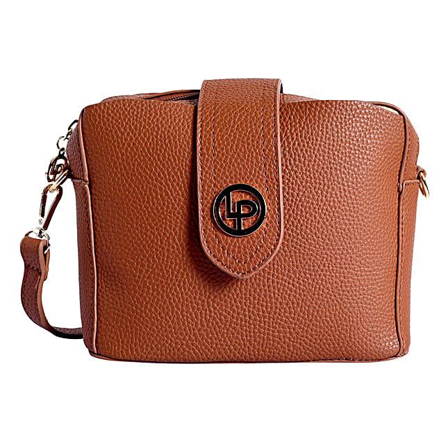 Lino Perros Fancy Sling Bag- Tan
