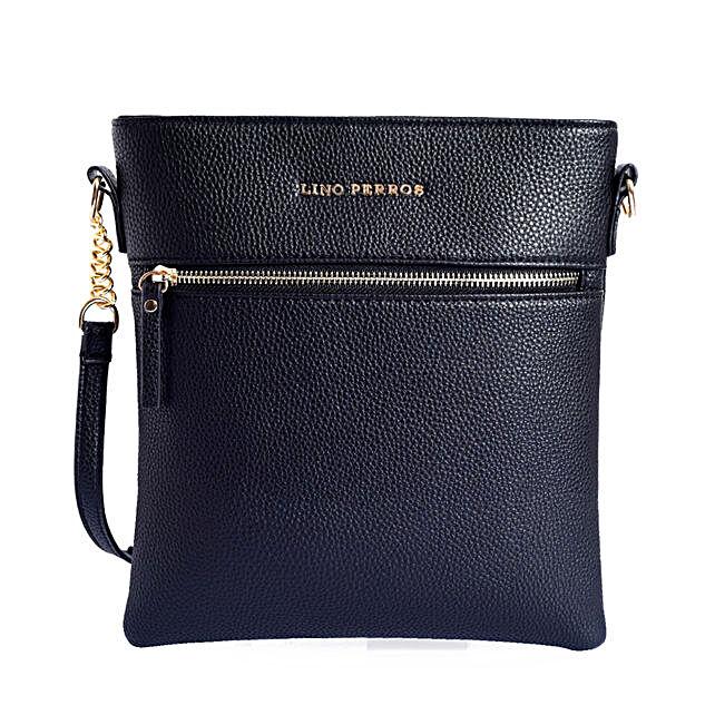 Lino Perros Fashionable Sling Bag- Black