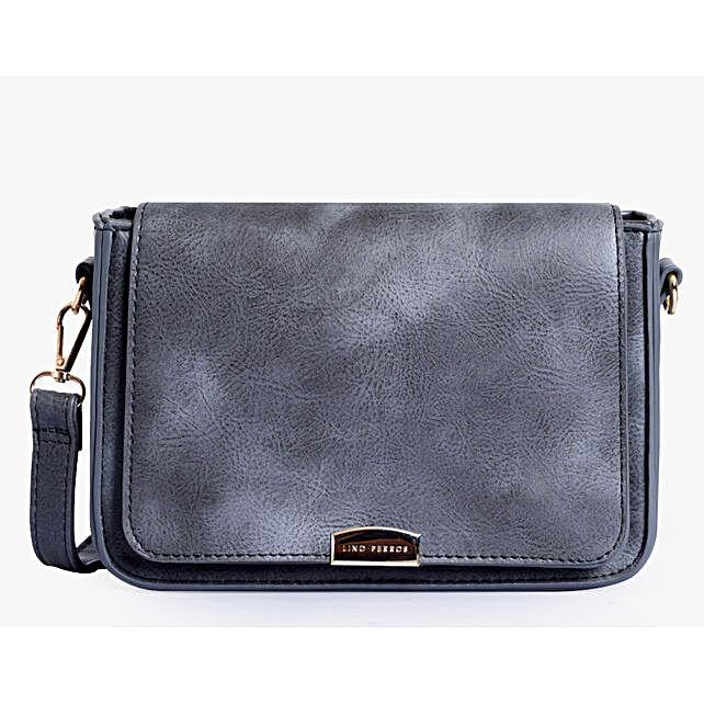 Lino Perros Leatherette Grey Sling Bag