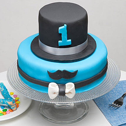 Moustache And Hat Birthday Chocolate Truffle Cake 4 Kg