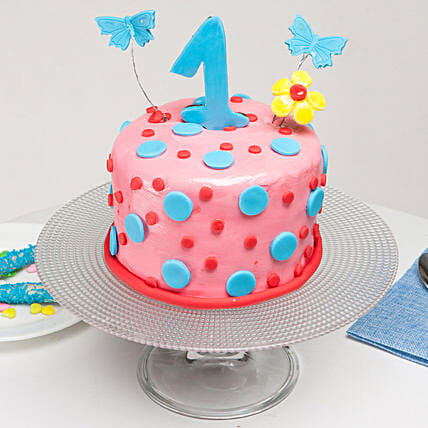 Special First Bday Truffle Cake 1 Kg Eggless