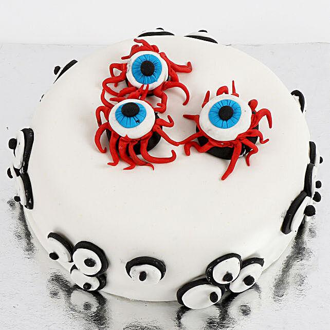 Scary Eyeballs Butterscotch Cake 2 Kg Eggless