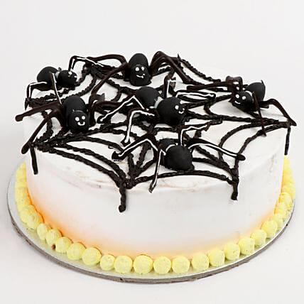 Spooky Spider Strawberry Cake 1 Kg Eggless