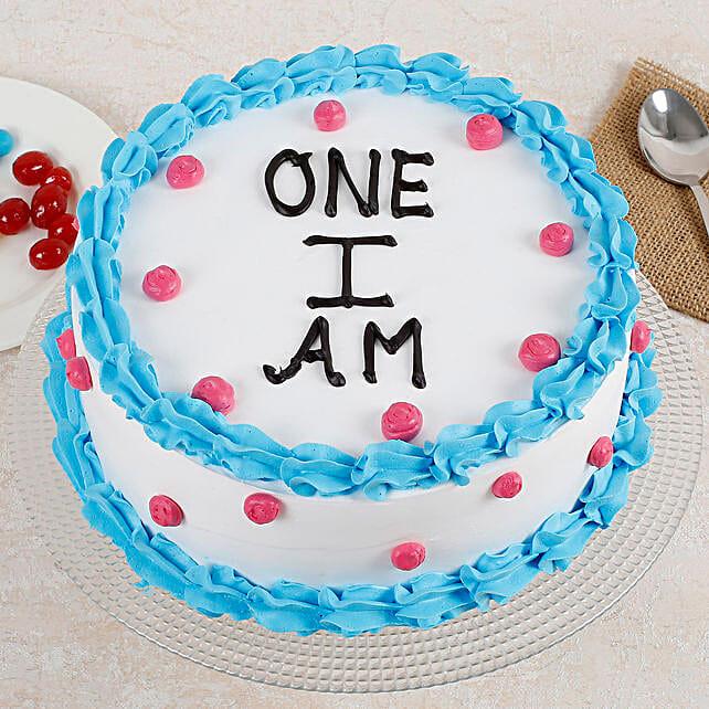 Cute First Bday Vanilla Cake Half Kg