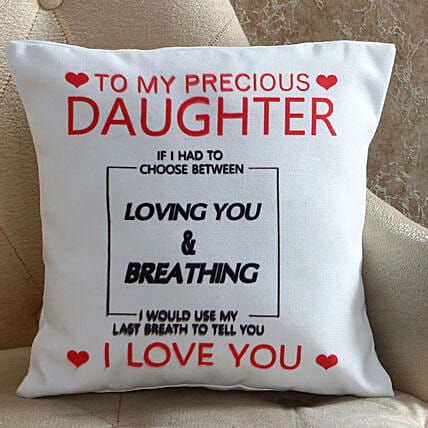 Lovely Daughter Printed Cushion