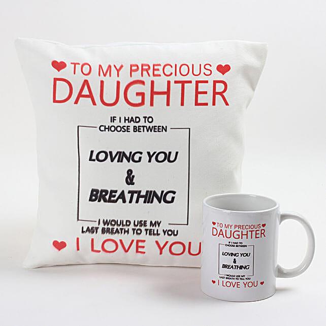 Precious Daughter Cushion & Mug Combo