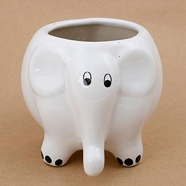 elephant shape plant vase