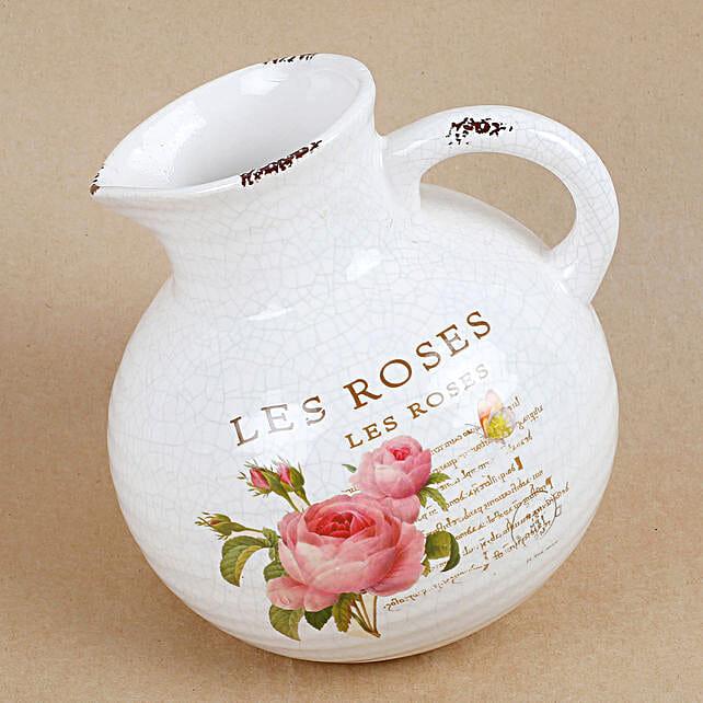 printed jug shape vase